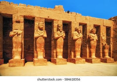 Karnak Temple, Hall of caryatids. Luxor, Egypt
