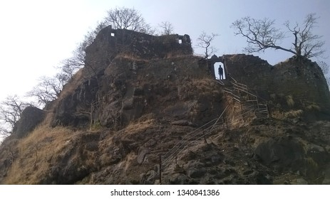 The Karnala fort pinnacle around which the sanctuary is located, Maharashtra, India. The bird sanctuary is a popular destination for bird-watchers and  hikers
