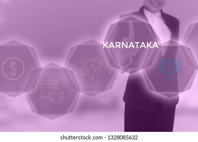 KARNATAKA - technology and business concept