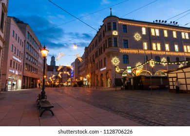 Karolinenstrasse is a commercial street in downtown Augsburg, Bavaria, Germany