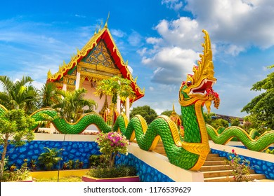 Karon Temple at Phuket in Thailand in a summer day
