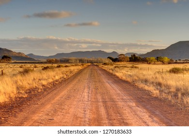 KAROO LANDSCAPES. Country roads across the karoo, South Africa.