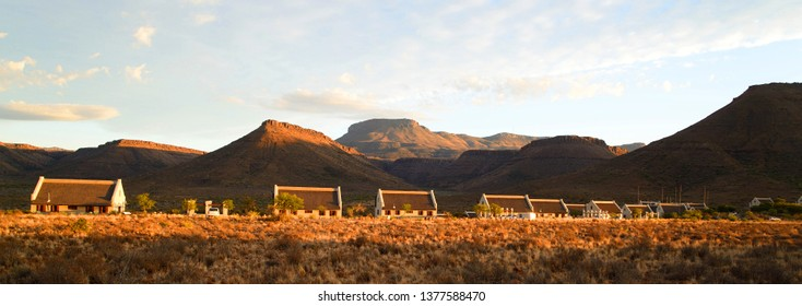 Karoo National Park accommodation with mountain background in the Great Karoo, South Africa