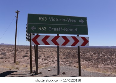 Karoo, South Africa, December, Circa 2017. A sign board in the Karoo area of South Africa.