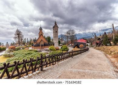 Karpacz church Vang in Giant Mountains