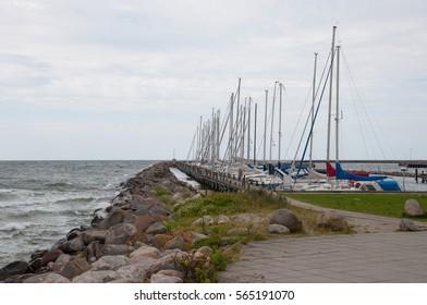 Karrebaeksminde harbor in Denmark