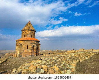 Kars Ani ruins and Ani ancient city alpha isolated - Shutterstock ID 1983806489