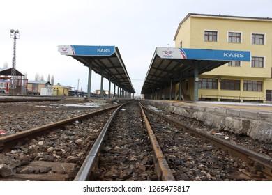 Kars Train Station - Kars Tren Garı FEBRUARY 25, 2016 / KARS- TURKEY