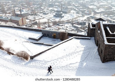 Kars / Turkey - 01/23/2016: View of Kars, Turkey