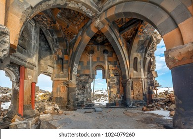 Kars, Turkey Ani Ruins Historic City Caravan Palace (the first entrance to Anatolia, the Silk Road, an important trade route during the Middle Ages)