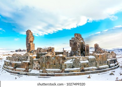 Kars, Turkey Ani Site of Historical Cities, The Church of St. Krikor of King Gagik (Gagikasen), (first entry into Anatolia, the Silk Road, an important trade route in the Middle Ages)