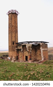 Kars / Turkey - April 11, 2010: Menucehr Mosque in the ancient city of Ani in Kars