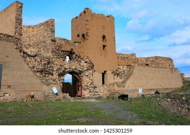 Kars / Turkey - April 11, 2010: A view from the ancient city of Ani in Kars