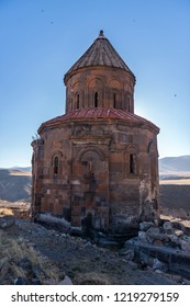 KARS, TURKEY - OCTOBER 6: Historical Ani ruins on October 6, 2018 in Kars, Turkey. Ani is since 2016 a Unesco World Heritage Site.