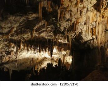 Karst cave of Pivka river in Postojna, Slovenia