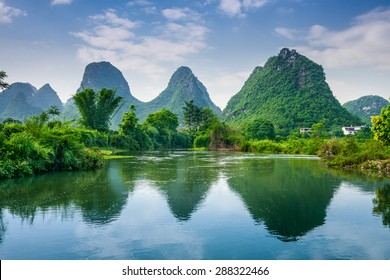 Karst Mountains Landscape of Guilin, China.