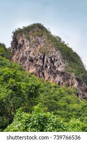 Karst rock formations in Vinales, Cuba