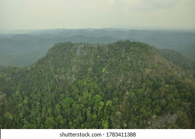 karst topography is the Limestone Mountain . This picture take from chaiyaphum North east thailand.
