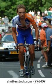Karsten Kroon on the Alpe D'Huez Time Trial Tour de France 2004