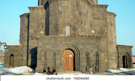 KARS/TURKEY - CIRCA FEBRUARY 2017: Dome (Tr: Kumbet) Mosque which is an old church (Twelve Apostles Church) is one of the most interesting mosques in East Region of Anatolia.