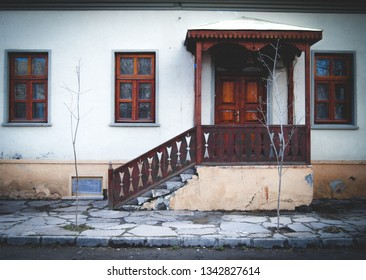 Kars/Turkey-February,2013:Historical Kars Houses. Most of the buildings in Kars City Center were built by Russians at the Beginning of the 19th Century.Currently, some of them have