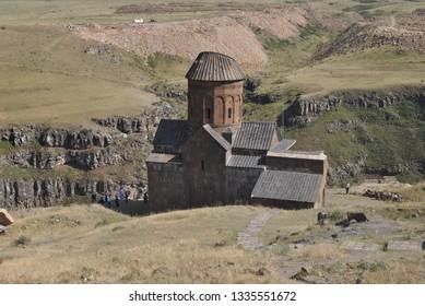 KARS/TURKEY:NOVEMBER,06,2017:Kars Sudden Ruins (a.k.a Ani Ören Yeri) Continue to Maintain, Kars, East Anatolian Region,Turkey.