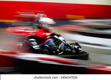 Kart moving at fast speed