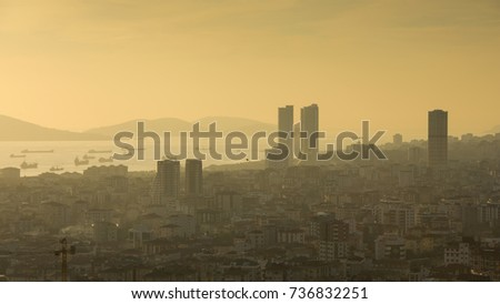 Kartal District View Sunset Istanbul Turkey Stock Photo Edit Now