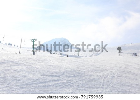 Kartalkaya Snowboard Kayak Pisti Stock Photo Edit Now 791759935