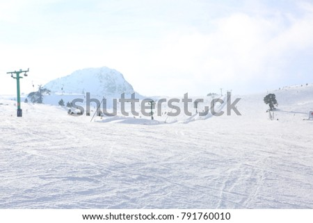 Kartalkaya Snowboard Kayak Pisti Stock Photo Edit Now 791760010