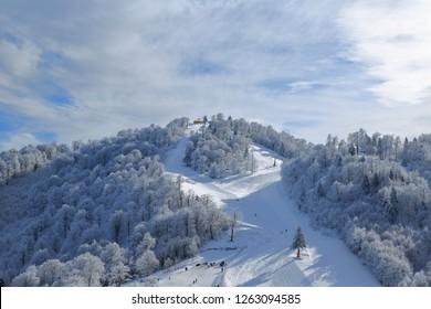 Kartepe Mountain, Ski center, Kocaeli, Turkey.