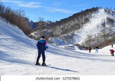 Kartepe Ski Center, Kocaeli, Turkey.