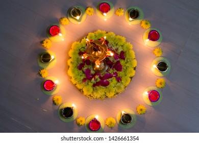 Karthika Deepam, Karthikai Vilakkidu or Thrikarthika is a festival of lights that is observed by Hindus of Tamil Nadu