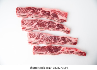 Karubi, beef short rib with bone flanken style
