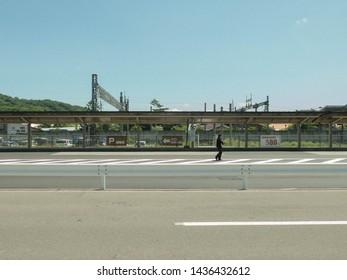 KARUIZAWA, JAPAN - June 13, 2019: Karuizawa is accessible via shinkansen only an hour's ride from Tokyo.