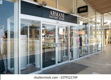 Karuizawa, Japan - Mar 25,2019 : Armani shop in Karuizawa Prince Shopping Outlet, Karuizawa, Japan