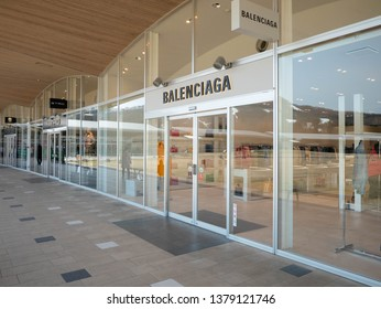 Karuizawa, Japan - Mar 25,2019 : Balenciaga shop in Karuizawa Prince Shopping Outlet, Karuizawa, Japan
