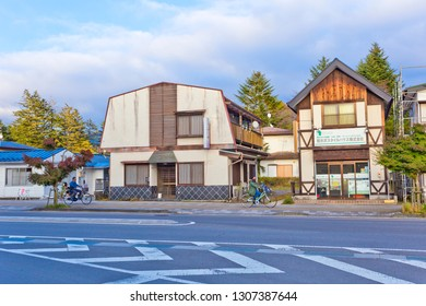 Karuizawa, Japan - October 2018 : Karuizawa is located along Japan's Romantic Road, and nice autumn colors typically around mid October to early November each year.