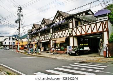 Karuizawa (Karuizawa-machi), Kitasaku District, Nagano Prefecture, Japan - September 9, 2009 - Karuizawa Ginza, a shopping street district in Karuizawa