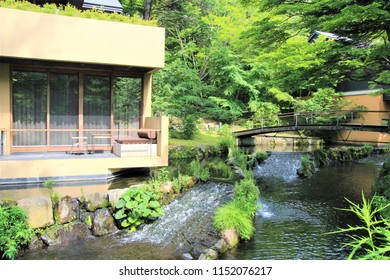 Karuizawa, Nagano, Japan / July 24th, 2017: Luxury resort at Hshino in Karuizawa