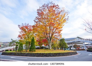 Karuizawa station in Autumn.
