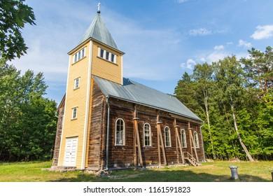 Karula Maarja (St Mary's) Church at Naissaar island in Estonia