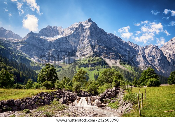 karwendel mountains in austria - european alps