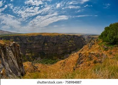 Kasagh river gorge near Saghmosavank monastery not far from Erevan in Armenia