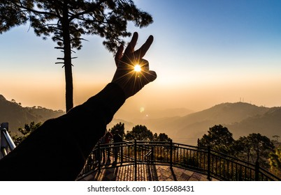 Kasauli, Himachal Pradesh / India - 02/10/2017: An abstract view of the natural beauty around Dalhousie, Himachal Pradesh, India, Asia.