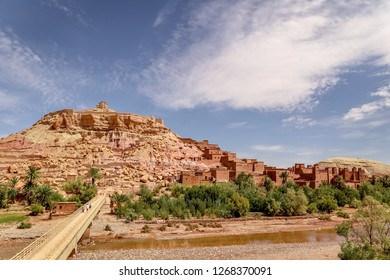 Kasbah Ait Ben Haddou in the Atlas Mountains of Morocco. UNESCO World Heritage Site. Most Famous Movie Location