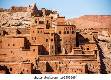Kasbah Ait Ben Haddou in the Atlas Mountains of Morocco. Unesco World Heritage Site.