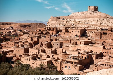 Kasbah Ait Ben Haddou in the Atlas Mountains of Morocco. Unesco World Heritage Site. Photographed 11/05/2019.