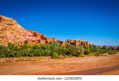Kasbah Ait Ben Haddou in the desert near Atlas Mountains, Morocco