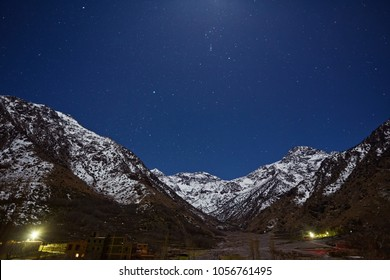 Kasbah du Toubkal, Imlil in the Atlas Mountains Morocco, night photo